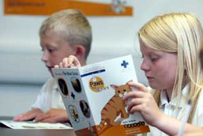 children reading and using language